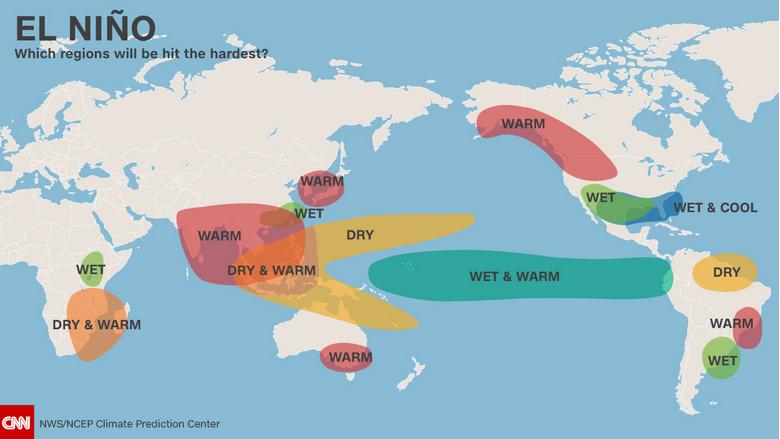 a description of an el nino climate pattern Excellent description  if el nino is a difference between average ocean temperatures  .